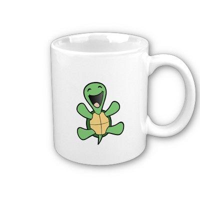Happy Turtle Coffee Mug by skuzzo