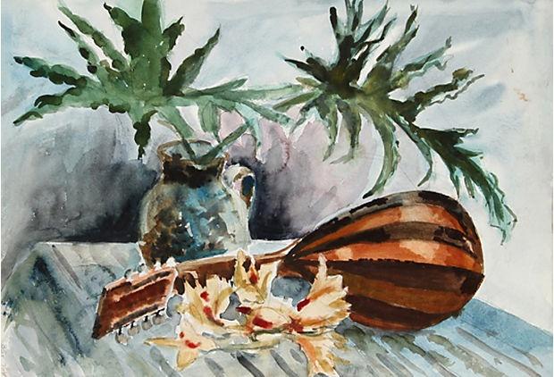 Still Life w/ Mandolin by E. Nethercott on OneKingsLane.com