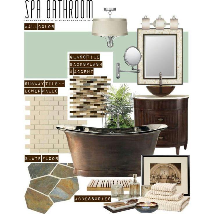 Spa bathroom - perfect color combo