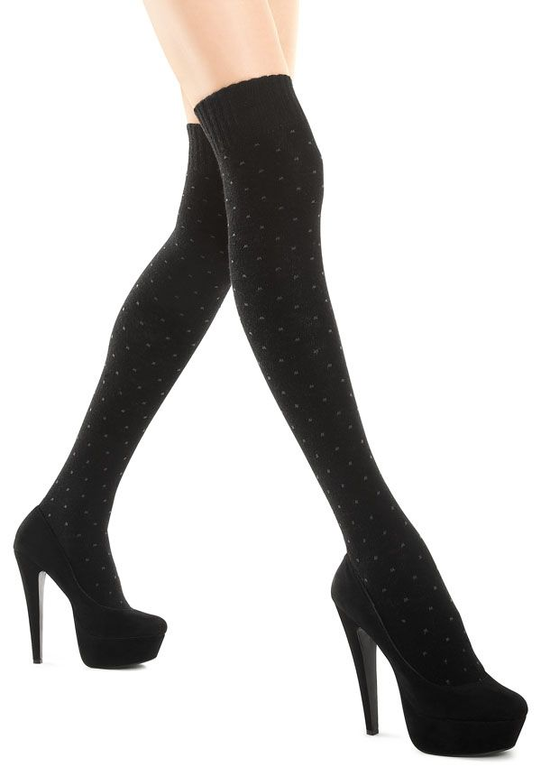 ZAKOLANÓWKI ZAZU ANGORA A32 Ciepłe zakolanówki w kropki. 100% kryjące, wspaniale otulają nogi. Z dodatkiem angory. - nieuciskający ściągacz - modne kropki