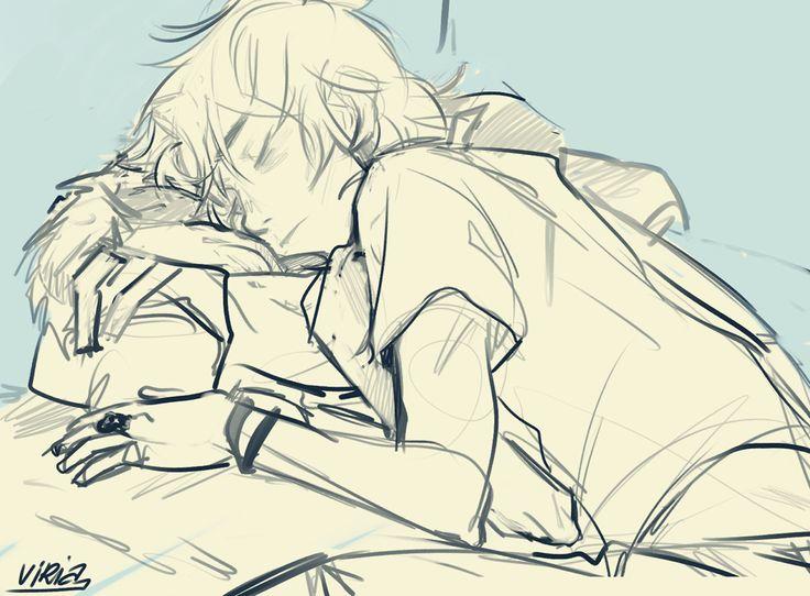Aw! Wittle sleeping Nico by Viria