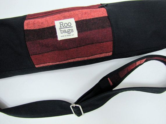Yoga Bag-Woven Pink Stripes by ReneeBou on Etsy