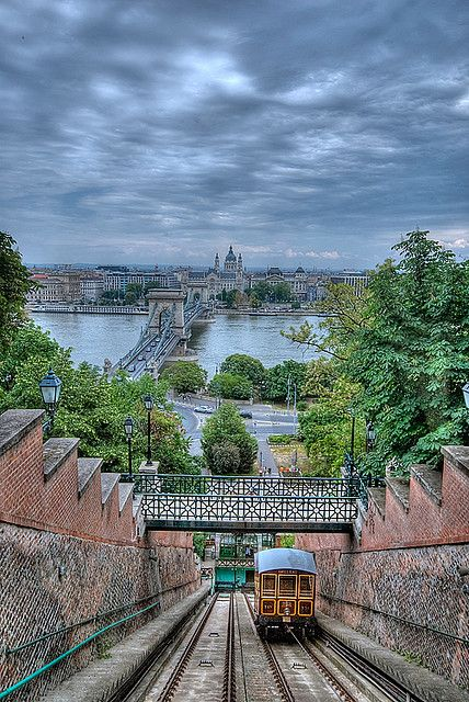Funicular, Budapest, Hungary, which I intend to travel by when Budapest is the final city on my middle Europe trip early in April 2014.
