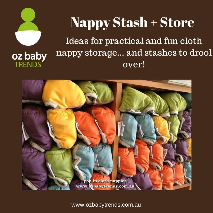 Follow us on Pinterest for ideas for practical and fun cloth nappy storage... and stashes to drool over!