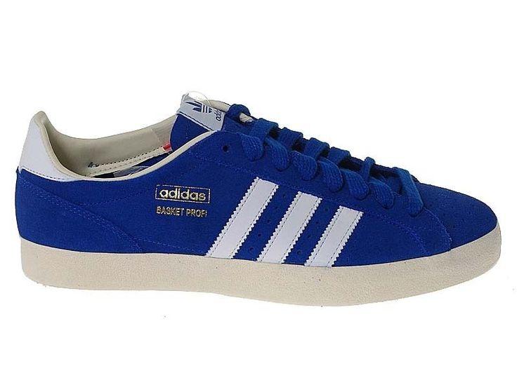 Adidas Originals Basket Profi Lo Mens Blue Trainers Shoes UK 10.5