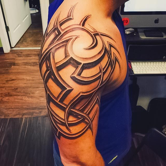 tribal shoulder tattoo - Tattoospedia