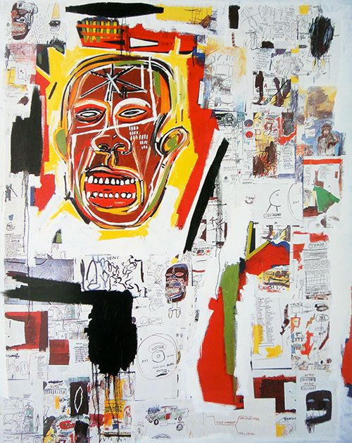 Basquiat | King of the Zulus, 1984 via catalogue of musée Cantini, 1992