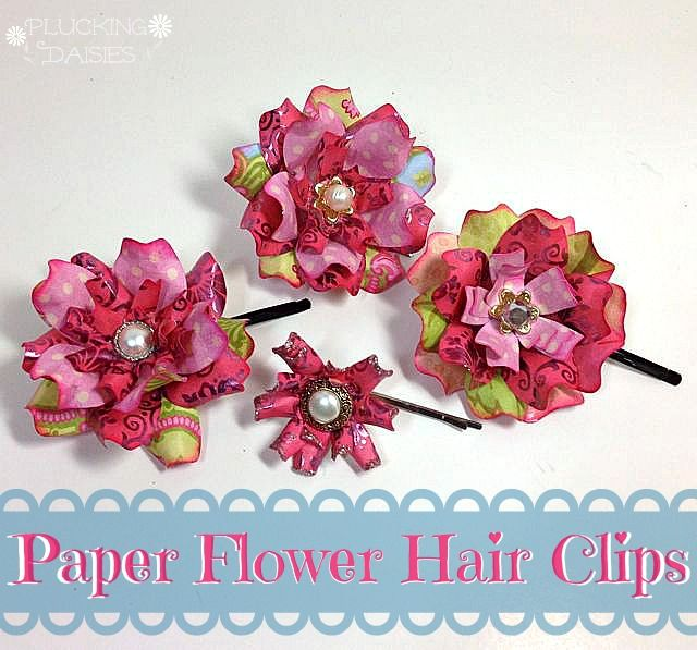 Trinity Flower Hair Clips | Pluckingdaisies.com #EileenHull #Sizzix