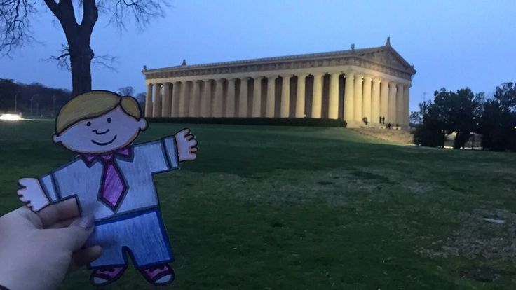 I'm Elisabeth, I took my Flat Stanley to the Parthenon landmark in Nashville, TN!  It is approximately 200 miles away from my home. This is a replica of The Grecian Parthenon where Athena is the focus. There is even a statue of Athena in the building that is 42-feet tall!  The Parthenon is also an art museum and focuses on 19th and 20th century American artists.