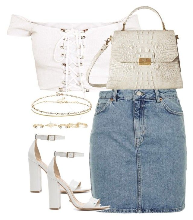 """Untitled #3982"" by theeuropeancloset on Polyvore featuring Topshop, Schutz, Brahmin, ASOS and Kendra Scott"