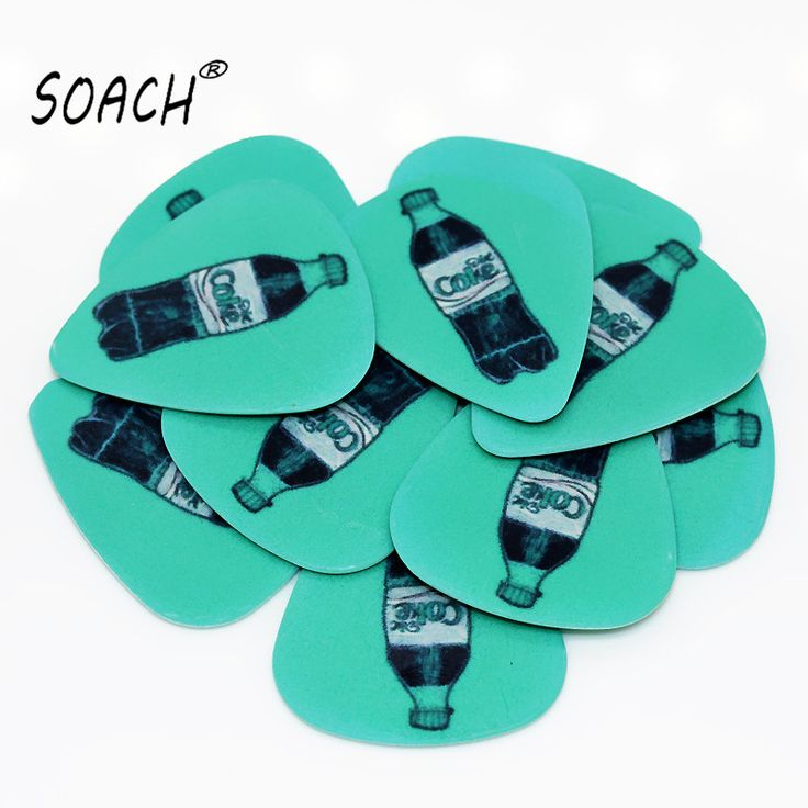 SOACH 10pcs 0.46mm guitar paddle PVC double-sided printing blue cola pattern plucked string guitar instrument accessories #Affiliate