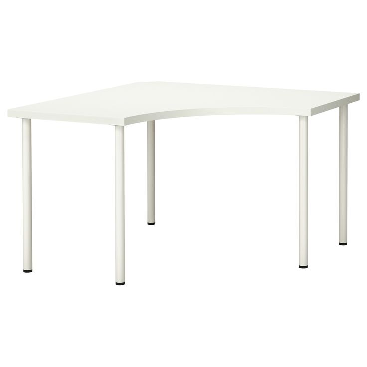 Awesome LINNMON / ADILS Corner Table, White | Small Corner Desk, Small Corner And  Front Doors