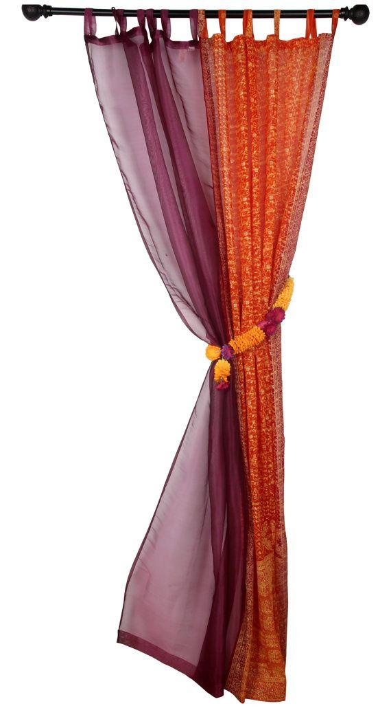 TENDE da FINESTRA arancione Magenta e oro tende colorate