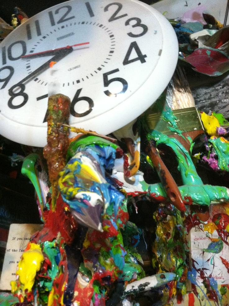 It's always time for Art around the studio. Artist, Justin Gaffrey's Studio. Blue Mountain Beach, FL