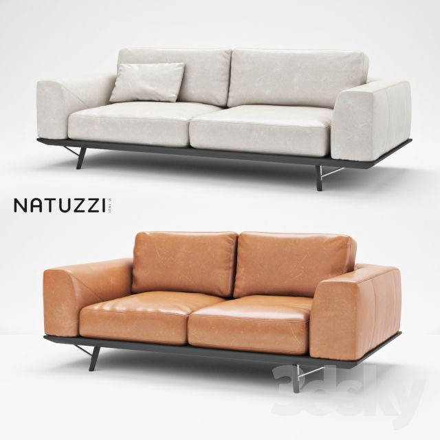 NATUZZI GIO (two leather sofas) : natuzzi leather sectionals - Sectionals, Sofas & Couches
