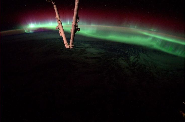 Astronauta fotografa a Aurora Boreal direto da Estação Espacial