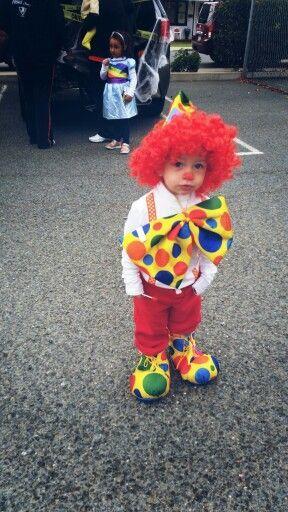 Adorable Clown Halloween Costume Idea forToddler Boy.