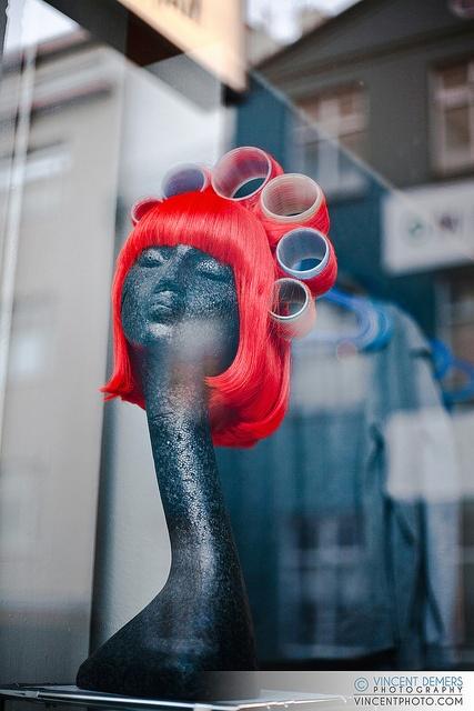Window display in Reykjavik,...