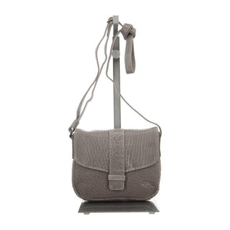 NEU: Voi Leather Design Handtaschen Überschlagtasche - 30420 GR - grau -