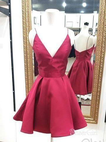 07de3d3f5e Plus Size Homecoming Dresses Cheap Burgundy Cute Junior Short Graduation  Dresses ARD1117-SheerGirl