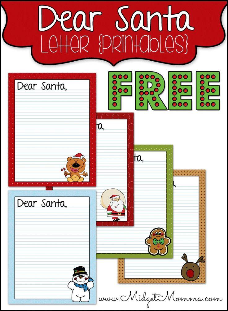 Best 25+ Santa letter printable ideas on Pinterest Santa list - santa letter template