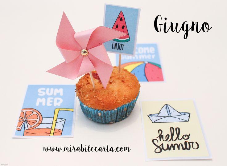 Summer Muffin - www.mirabilecarta.com