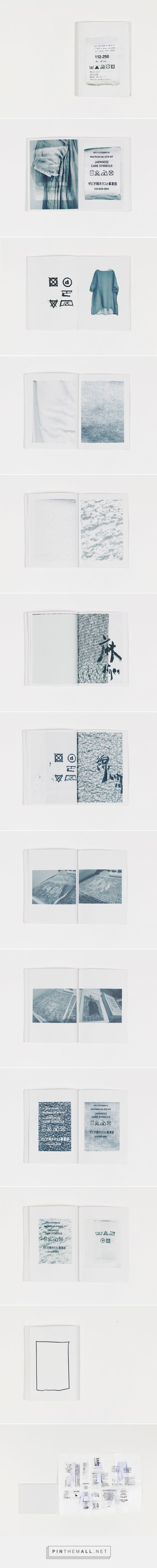 Zine / Wash Label and Fabric by Shimin Chen