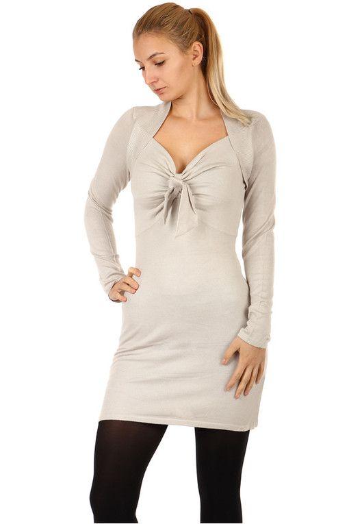 Dámský dlouhý svetr s dlouhými rukávy  5bb39ae92a
