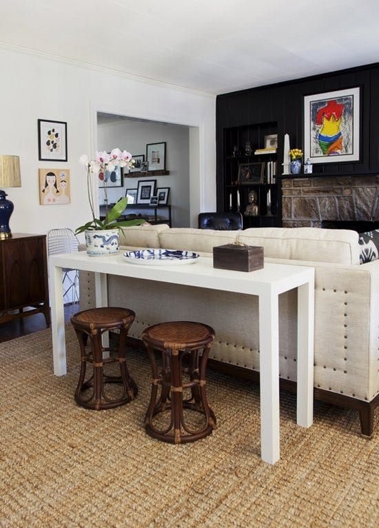 Fantastic Redefining The Sofa Table Add Chairs Sofa Table Decor Creativecarmelina Interior Chair Design Creativecarmelinacom