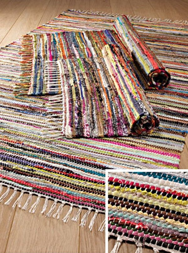 Multi Colour Rag Rug 60x90cm Online at www.yellowsunrise.co.uk or at Yellow Sunrise, Corn Exchange Leeds Home accessories store