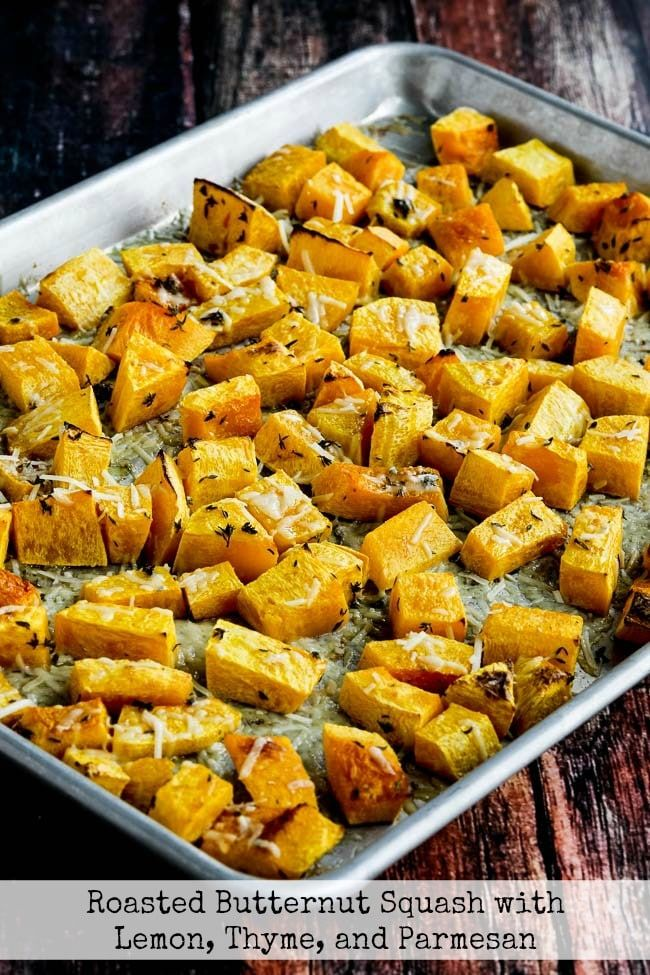 Roasted Butternut Squash With Lemon Thyme And Parmesan Recipe