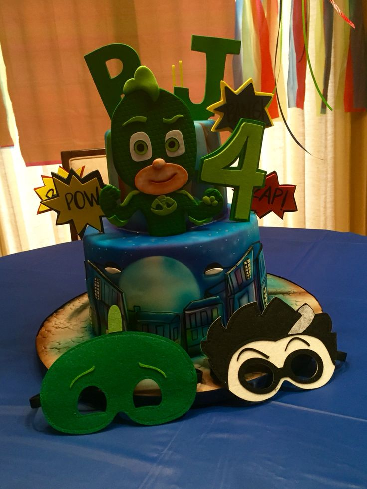 Pj Masks Cake Gekko Boys Birthday Ideas Pinterest