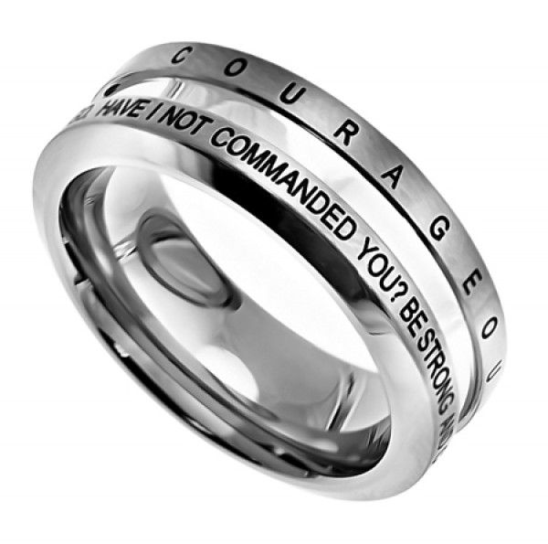 Silver Industrial Band--SELECT YOUR VERSE!! - Purity Rings for Guys - Rings | Cornerstone Jewelry