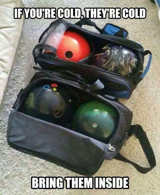 Bowling balls humor.