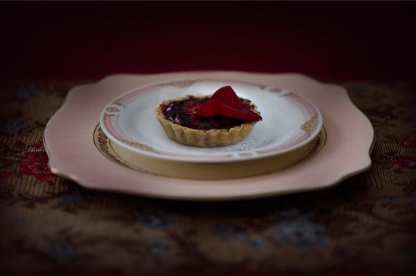 """Blood Panacotta Tart"" - lightjet photograph by Jonathan Cameron"