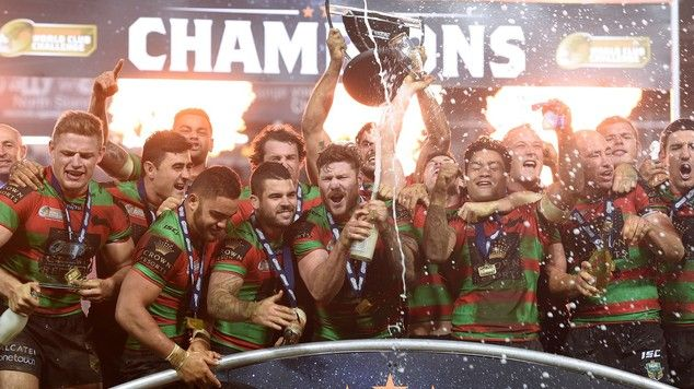 2015 South Sydney Rabbitohs' lift the trophy first World cup crown with a 39-0 rout of Saints.