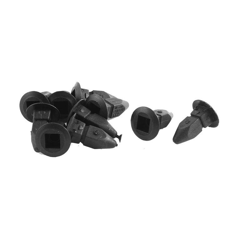 Unique Bargains 10 Pcs Black Plastic Splash Guard Defender Interior Mat Clip for VW Passat B5