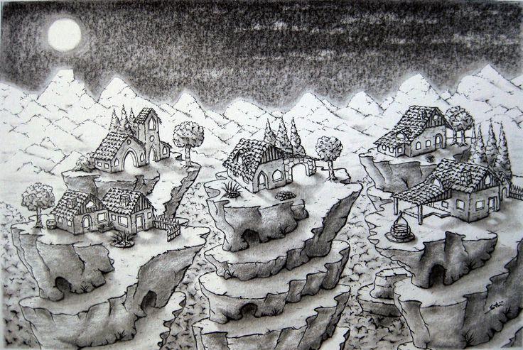 Paesaggi impossibili_II°_(disegno a matita)_Maurizio Santini