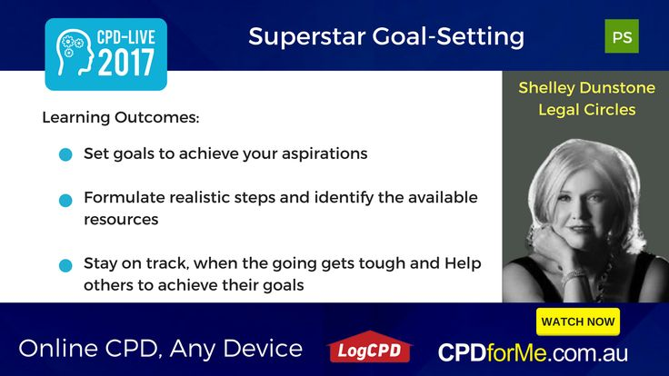 $66 - #Superstar Goal-Setting, with Shelley Dunstone, Legal Circles 1 #CPD Unit #Online #AnyDevice #ProfessionalSkills - Find inspiration to be more #ambitious in your #goal-setting, and to #commit to achieving those goals.