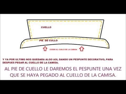 ▶ COMO HACER EL CUELLO Y PIE DE CUELLO DE LA CAMISA HOMBRE - YouTube