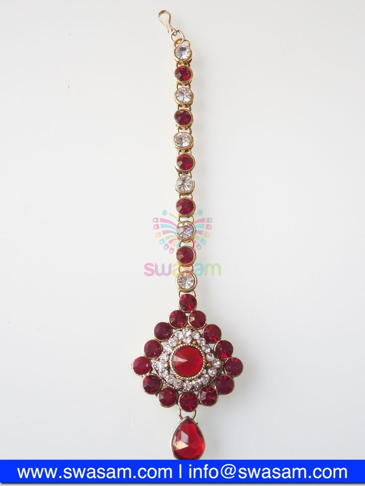 Indian Jewelry Store | Swasam.com: Tikka with Perls and White Stones - Tikka - Jewelry Shop to Buy The Best Indian Jewelry  http://www.swasam.com/jewelry/tikka/tikka-with-perls-and-white-stones-1339.html?___SID=U  #indianjewelry #indian #jewelry #tikka