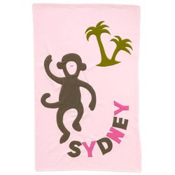 Best 25 monogrammed baby blankets ideas on pinterest baby girl having a day in the sun is easy with this personalized baby blanket that features a playful monkey on a desert island that makes a unique baby gift for your negle Gallery