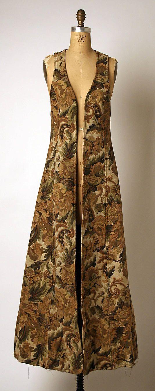 Coat  Barbara Hulanicki (British, born 1936)  Date: ca. 1969 Culture: British Medium: cotton Dimensions: Length at CB: 56 in. (142.2 cm) Credit Line: Gift of Bernice Shaftan, 2005 Accession Number: 2005.94.2