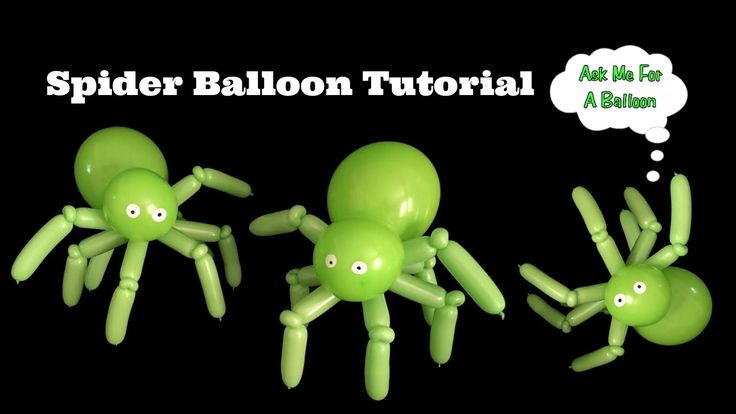Spider Balloon Tutorial by Ask Me For A Balloon #halloween #balloons