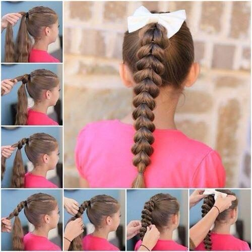 cute hairdo for your little girls first day of school