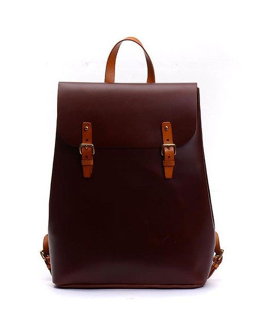Leather school backpack, from $164.21 from #Beijingren #Etsy