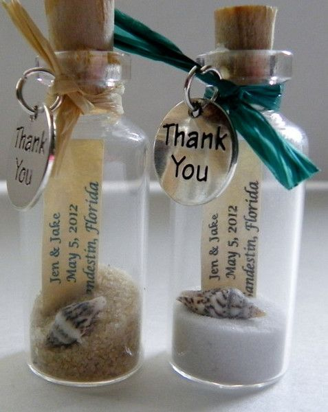 THANK YOU Mini Message Bottle FAVORS