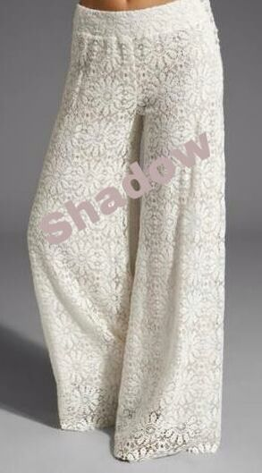 White lace Pallazo pants