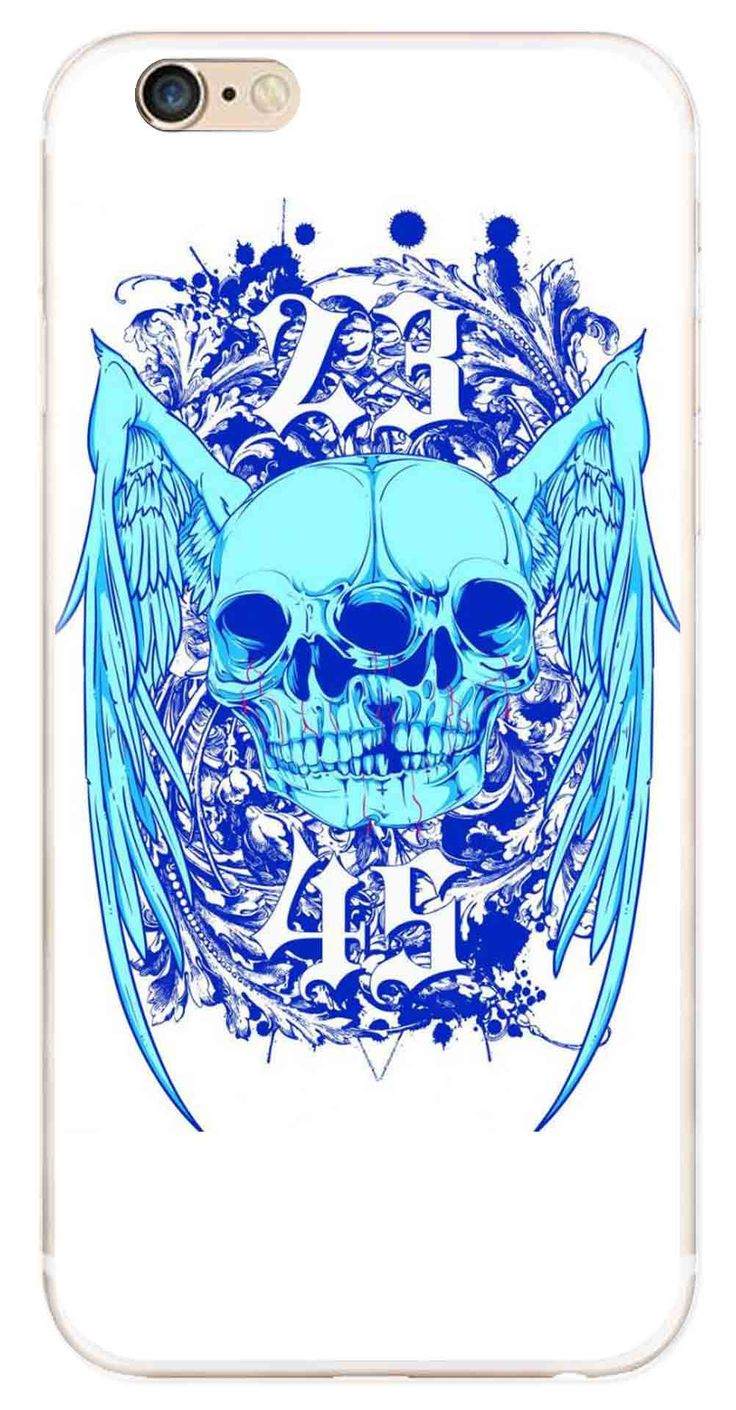 Whatskin DIY Style Skull Heads Series 03 Clear Back Cover for iphone 6