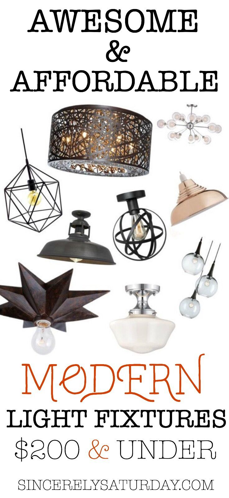 light fixtures modern awesome and affordable